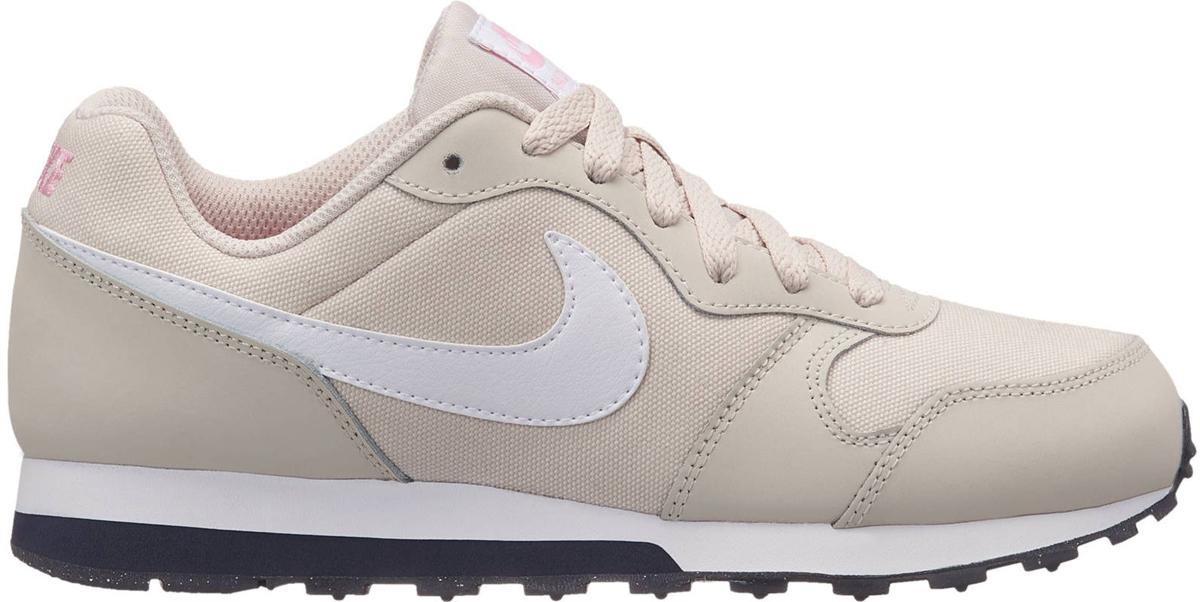 Кроссовки для девочки Nike MD Runner 2 (GS), цвет: бежевый. 807319-013. Размер 7Y (39) кроссовки nike кроссовки ld runner gs