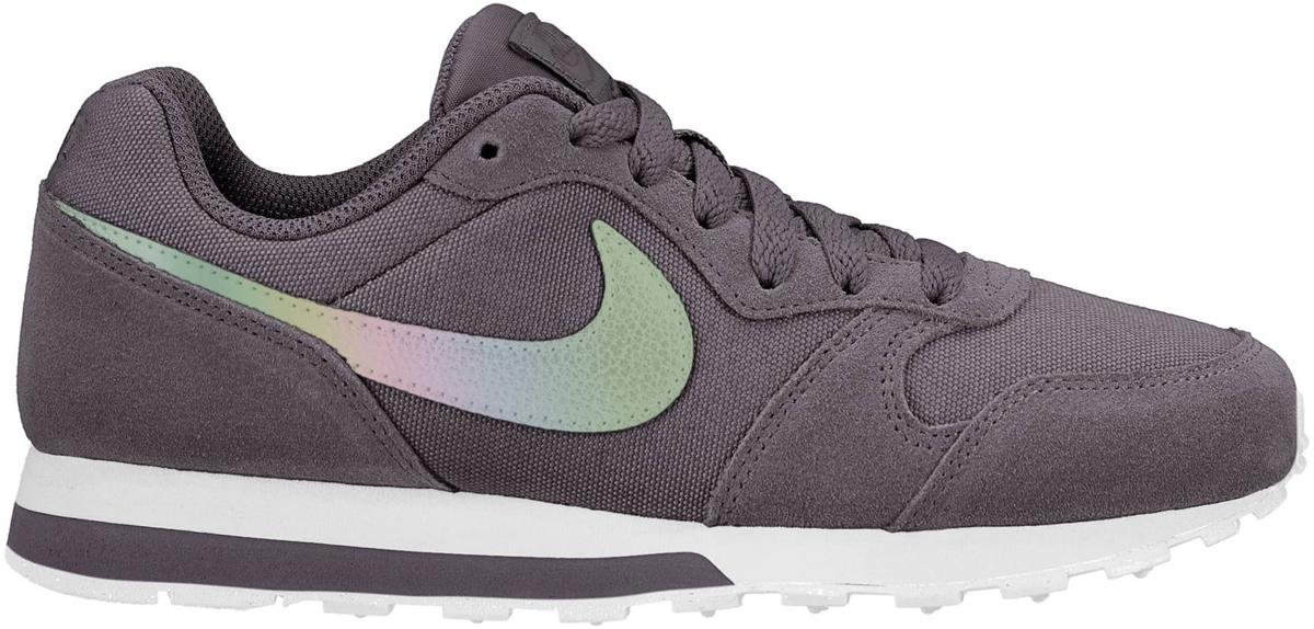 Кроссовки для девочки Nike MD Runner 2 (GS), цвет: темно-серый. 807319-014. Размер 4,5Y (35,5) кроссовки nike md runner 2 749794 410