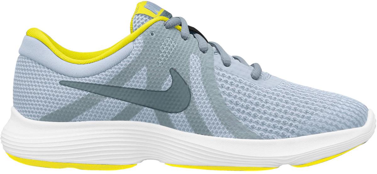 Кроссовки для мальчика Nike Revolution 4 (GS) Running, цвет: серый. 943309-011. Размер 3,5Y (34,5) кроссовки nike team hustle d 8 gs basketball shoe boys 881941 301
