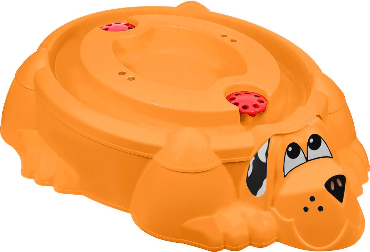 PicnMix Песочница-бассейн Собачка с крышкой цвет оранжевый бассейн с установкой