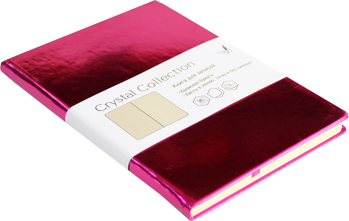 Listoff Записная книжка Crystal Collection цвет малиново-розовый 96 листов КЗКК5962597