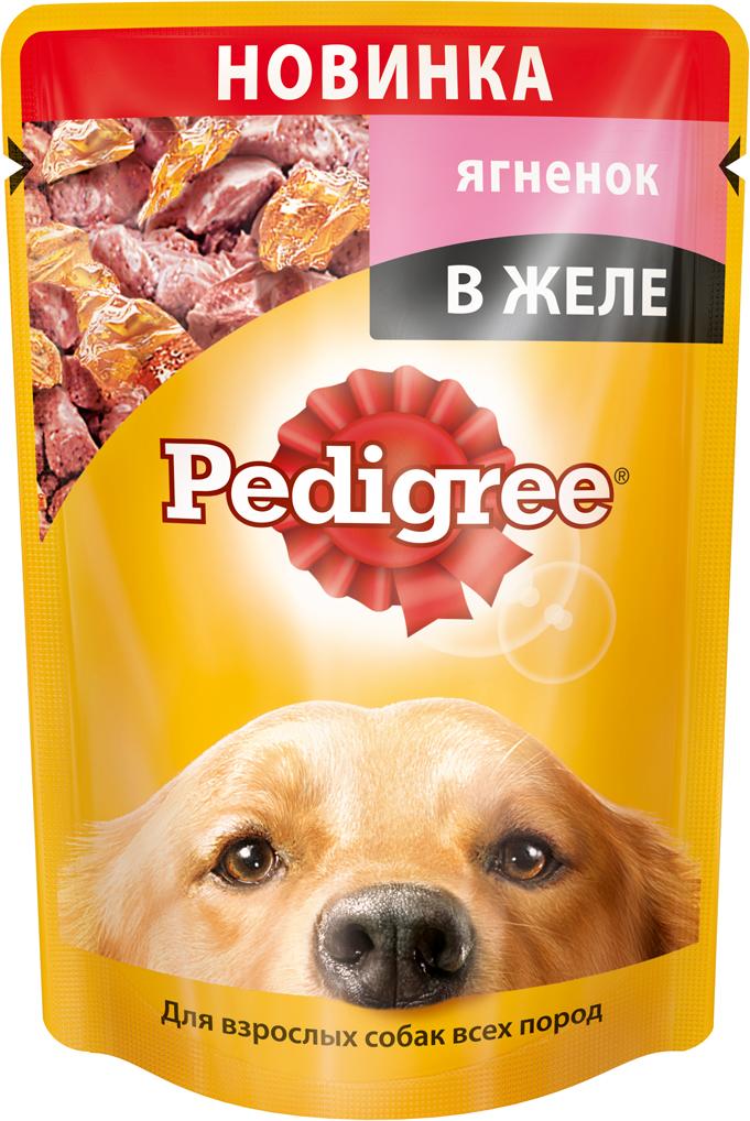 Консервы Pedigree, для взрослых собак всех пород, с ягненком в желе, 100 г х 24 шт витамины solgar кальций магний цинк 100 таблеток
