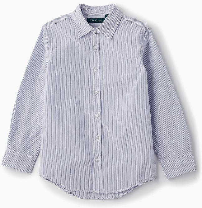 Рубашка для мальчика Sela, цвет: ярко-голубой. H-812/237-8310. Размер 152