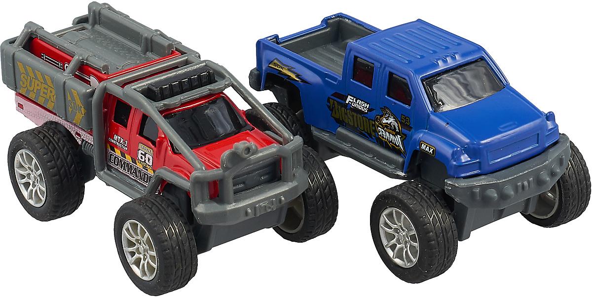 Технопарк Набор машинок инерционных Джипы цвет красный синий 2 шт набор инерционных игрушек мотоциклы 966 11