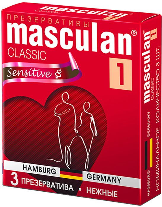 Masculan Презервативы 1 Classic №3, нежные