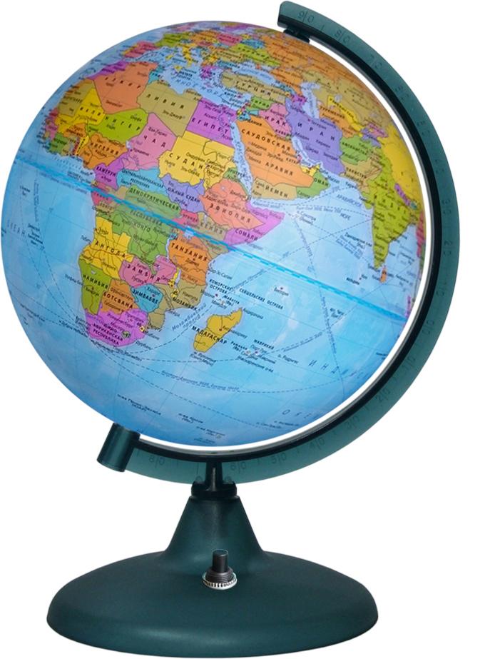 Глобусный мир Глобус с политической картой мира с подсветкой диаметр 21 см глобусный мир глобус ландшафтный диаметр 21 см