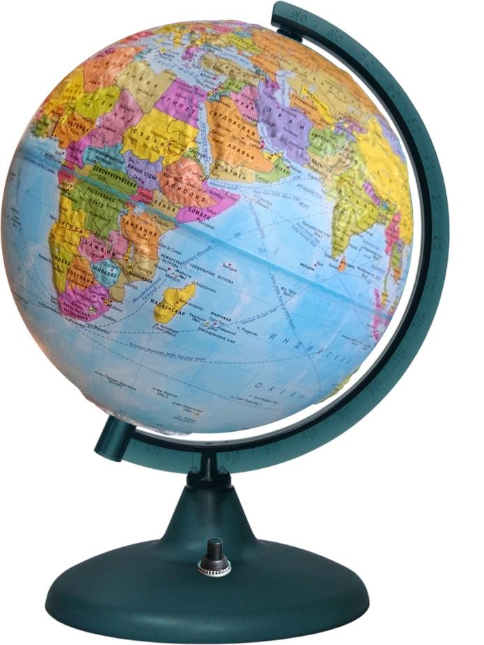 Глобусный мир Глобус с политической картой мира рельефный с подсветкой диаметр 21 см