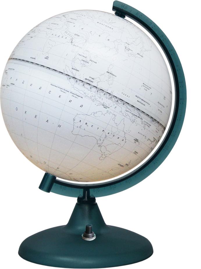 Глобусный мир Глобус Контурный с подсветкой диаметр 21 см глобусный мир глобус ландшафтный диаметр 21 см