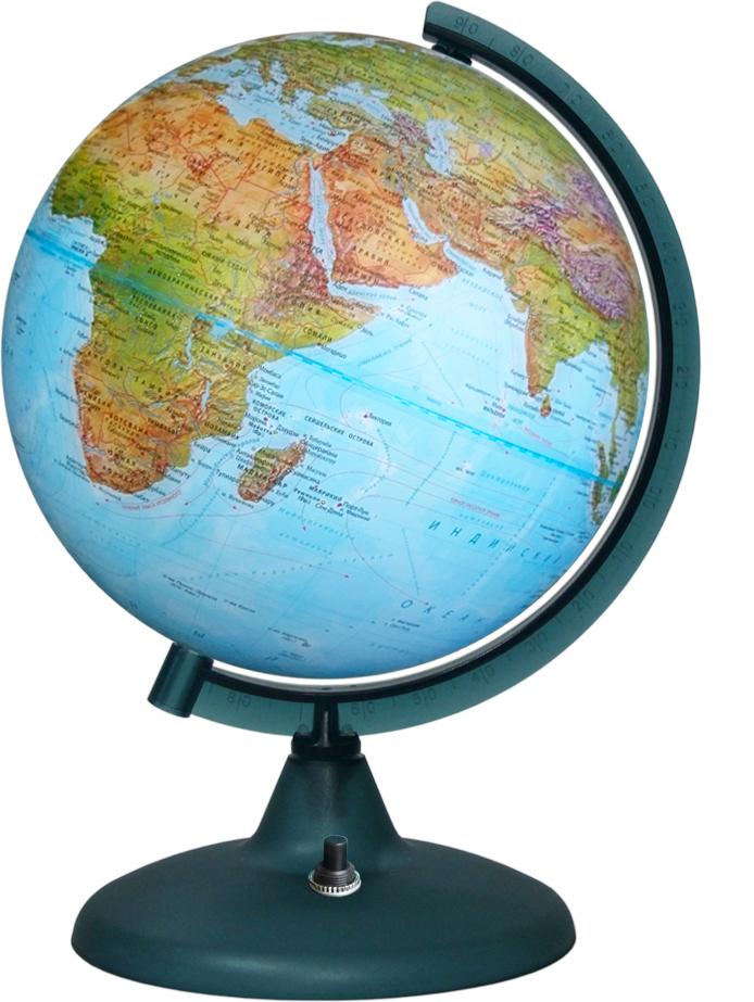 Глобусный мир Глобус Земли Двойная карта с подсветкой диаметр 21 см глобусы глобусный мир глобус физико политический рельефный 21 см с подсветкой