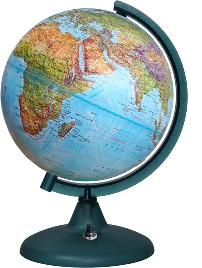Глобусный мир Глобус Земли Двойная карта рельефный с подсветкой диаметр 21 см