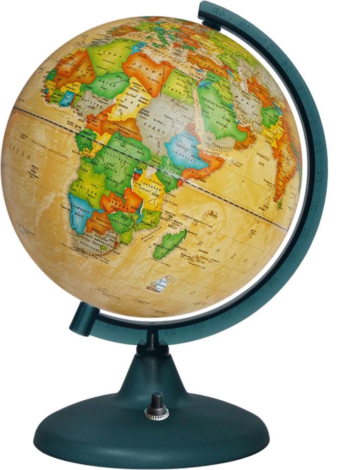Глобусный мир Глобус с политической картой мира Ретро-Александр с подсветкой диаметр 21 см глобусный мир глобус ландшафтный диаметр 21 см