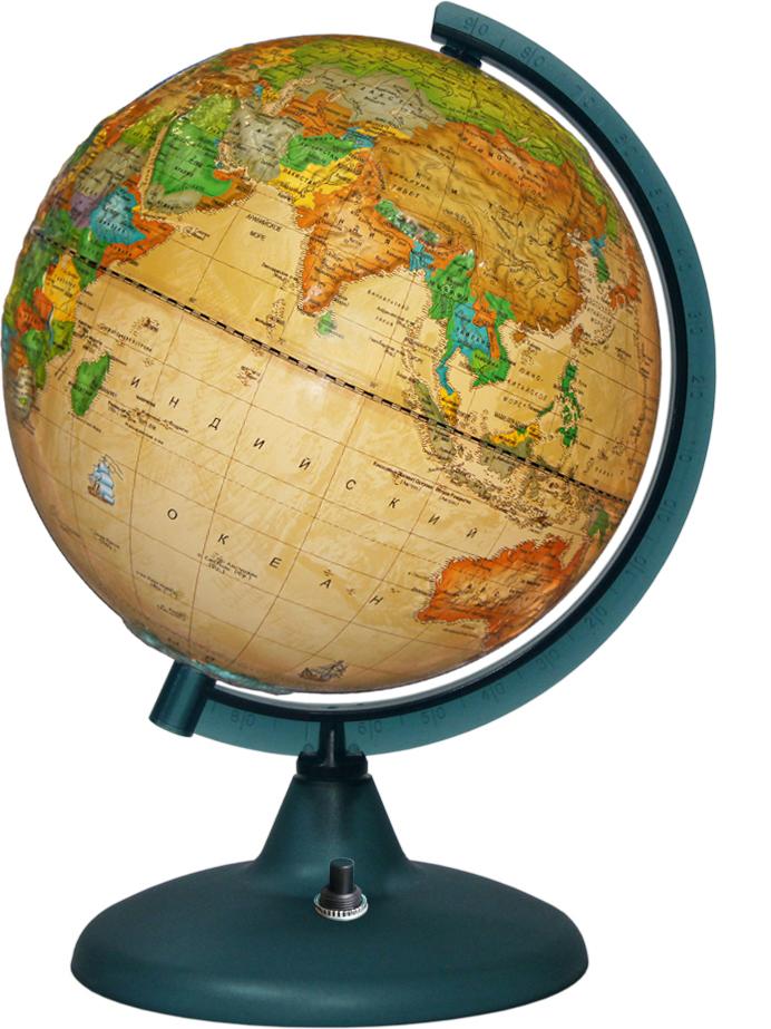 Глобусный мир Глобус с политической картой мира рельефный Ретро-Александр с подсветкой диаметр 21 см глобусный мир глобус ландшафтный диаметр 21 см