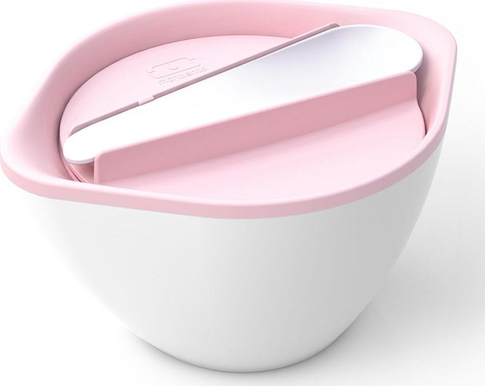 Ложки в руки! Теперь супы и свежие салаты брать с собой на работу и на пикник проще простого. И даже дома есть хлопья и пюре вкуснее из красивой ёмкости от Monbento. Вакуумная крышка плотно прилегает к основе, не позволяя даже капле просочиться наружу. А специальный дизайн супницы и двойные стенки позволяют без проблем держать ее в руках, даже если внутри очень горячая еда. В комплекте идет ложка, которая аккуратно и надежно закрепляется на крышке супницы.Объем - 450 мл. Изготовлена из безопасного пищевого пластика без вредного бисфенола-А (BPA free). Можно ставить в холодильник, греть в микроволновой печи и мыть в посудомоечной машине.