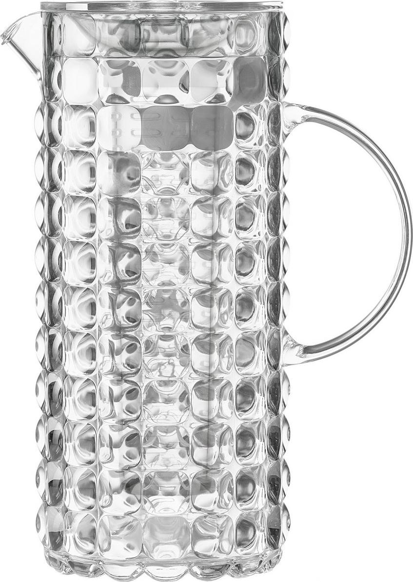 Яркий и нарядный кувшин Tiffany выполнен из прозрачного и легкого материала, который переливается на свету и создает праздничную атмосферу за любым столом. Идеален для пикников и приемов пищи на свежем воздухе. Верхняя съемная крышка защитит напитки от пыли и насекомых. Внутри кувшина находится съемная колба-фильтр для кусочков лимона, фруктов, ягод, зелени и других ингредиентов, которые придают воде приятный вкус и аромат.Рельефная форма с носиком удобна для наливания освежающих лимонадов, бодрящих соков и цитрусовых коктейлей. Горлышко кувшина оснащено небольшой решеткой, которая пригодится при подаче морсов, компотов и других напитков с кусочками фруктов и ягод. Объем 1,75 л. Материал - органическое стекло. Можно мыть в посудомоечной машине.