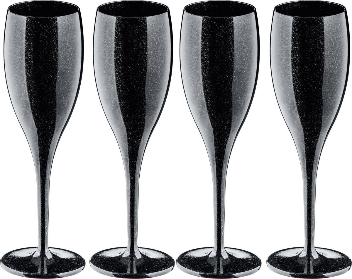 Бокал Koziol Superglas Cheers, цвет: черный, 100 мл, 4 шт three cheers for women