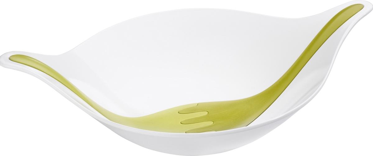 Салатник LEAF - это ясный, простой и элегантный дизайн полимерной посуды, будто специально созданной для эффектной подачи здоровой пищи. В комплект входят приборы для салата, которые изящно вливаются в корпус салатника.Особенности:- объем 3 л- не содержит меламин- можно мыть в посудомоечной машине