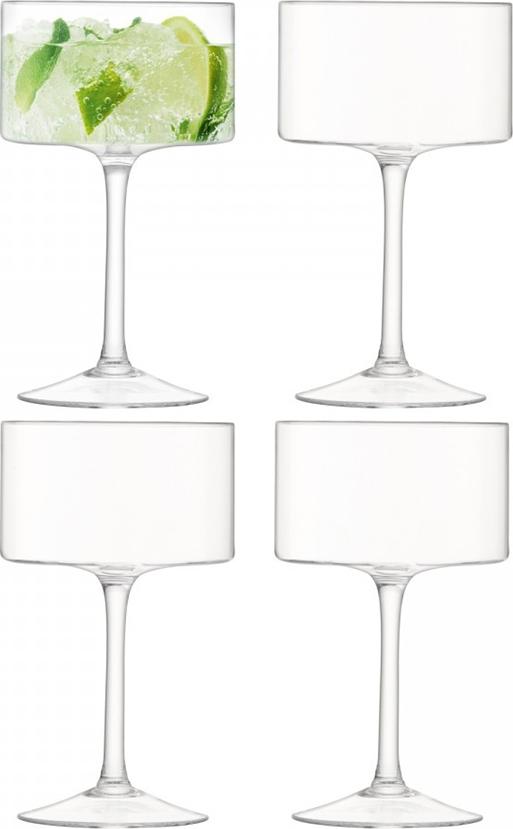 Набор из 4-х бокалов-креманок из выдувного стекла для игристых вин, коктейлей и легких десертов. Цилиндрическая форма бокалов станет эффектным завершающим штрихом для элегантной сервировки торжественного ужина, фуршета или вечеринки. Объём 280 мл. Бокалы можно комбинировать с другими предметами из коллекции Otis — креманками и стаканами. Они упакованы в красивую коробку и станут приятным подарком другу, коллеге или любимому человеку. Otis — дизайнеры вдохновились совершенством геометрической формы и создали эту уникальную коллекцию из кристально-прозрачного стекла ручного производства. Добавьте ноту арт-деко в сервировку любимых напитков. Изделия из выдувного стекла рекомендуется мыть вручную в тёплой мыльной воде и вытирать насухо мягкой тканью. Иногда в готовом изделии из выдувного стекла встречаются пузырьки воздуха — это нормально и вполне допускается технологией ручного производства. Такие пузырьки воздуха внутри не являются браком.