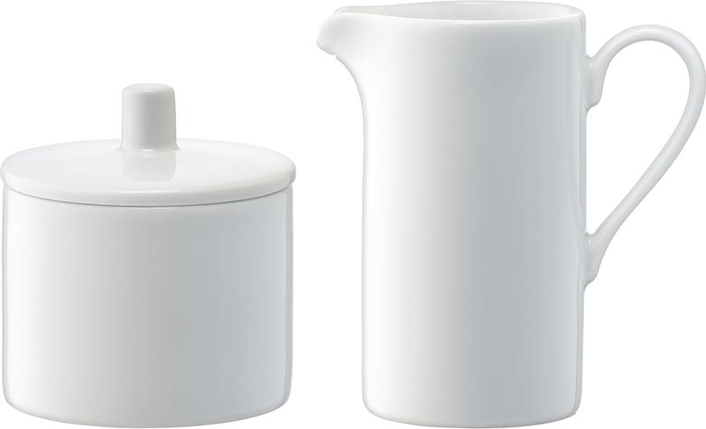 Набор из сахарницы с крышкой (O9 см) и молочника (250 мл) незаменим для сервировки чая и кофе. Набор можно комбинировать с другими предметами из коллекции Dine для создания законченной композиции, например, c чайником, чашками для кофе или чая, подставкой для тостов и т.д.. Набор упакован в красивую коробку и станет отличным подарочком на памятную дату, свадьбу или юбилей. Dine — коллекция фарфоровой посуды, сочетающей в себе классику и современный дизайн. В линейке представлены тарелки, чашки, блюдца, миски, блюда, заварочные чайники, сахарницы, маслёнки, молочники и другие предметы для изысканной сервировки. Все элементы коллекции можно комбинировать между собой в зависимости от случая.Изделия из фарфора можно использовать в микроволновой печи и мыть в посудомоечной машине.