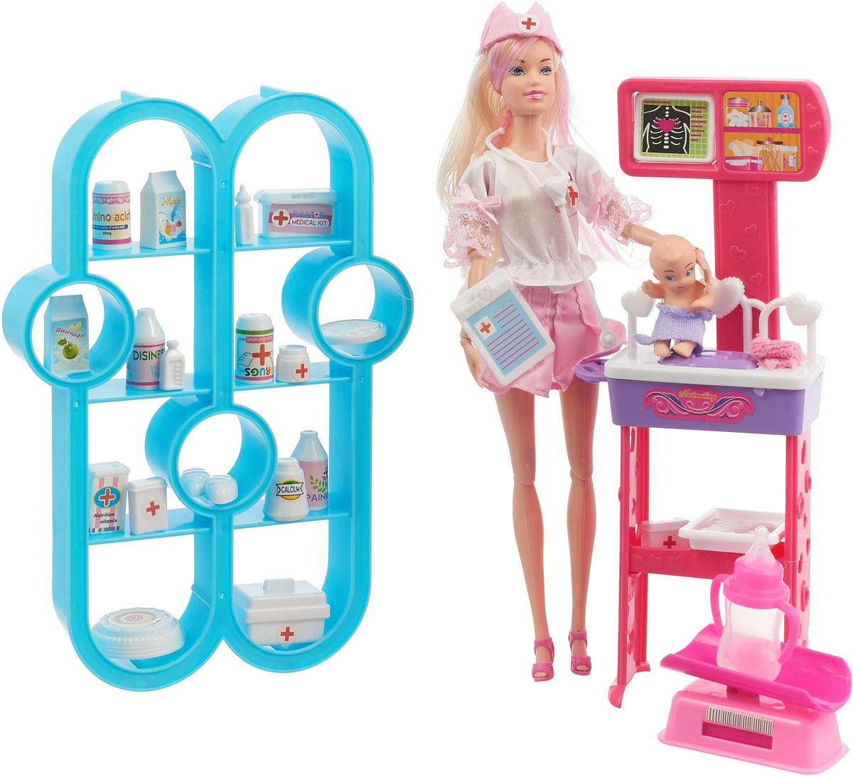 Veld-Co Игровой набор с куклой Детская поликлиника Кукла блондинка игровые наборы veld co игровой набор военная база 1 64
