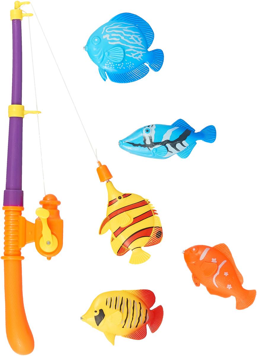 Играем вместе Обучающая игра Рыбалка Кот Леопольд цвет фиолетовый оранжевый B1273205-R