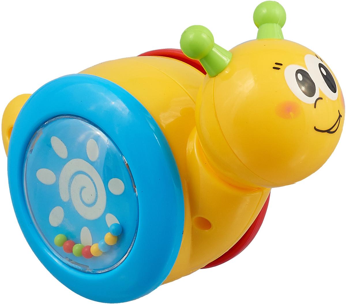 Умка Игрушка-каталка Улитка цвет желтый каталка улитка b kids