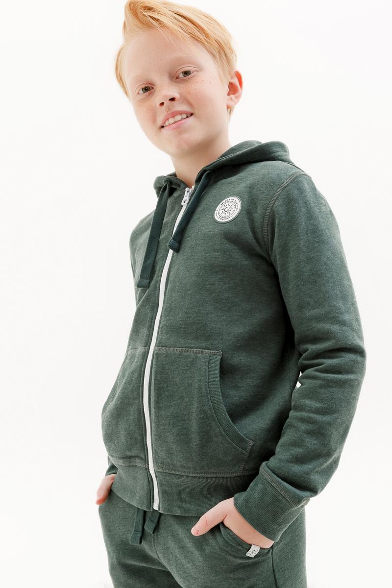 Толстовка для мальчика Concept Club Onion, цвет: зеленый. 10110130007_2300. Размер 158
