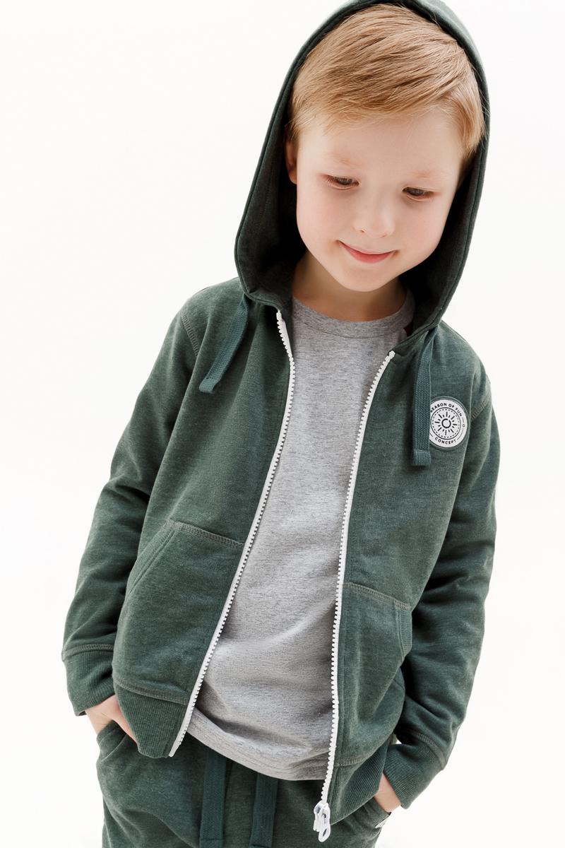 Толстовка для мальчика Concept Club Onion, цвет: зеленый. 10120130001_2300. Размер 128