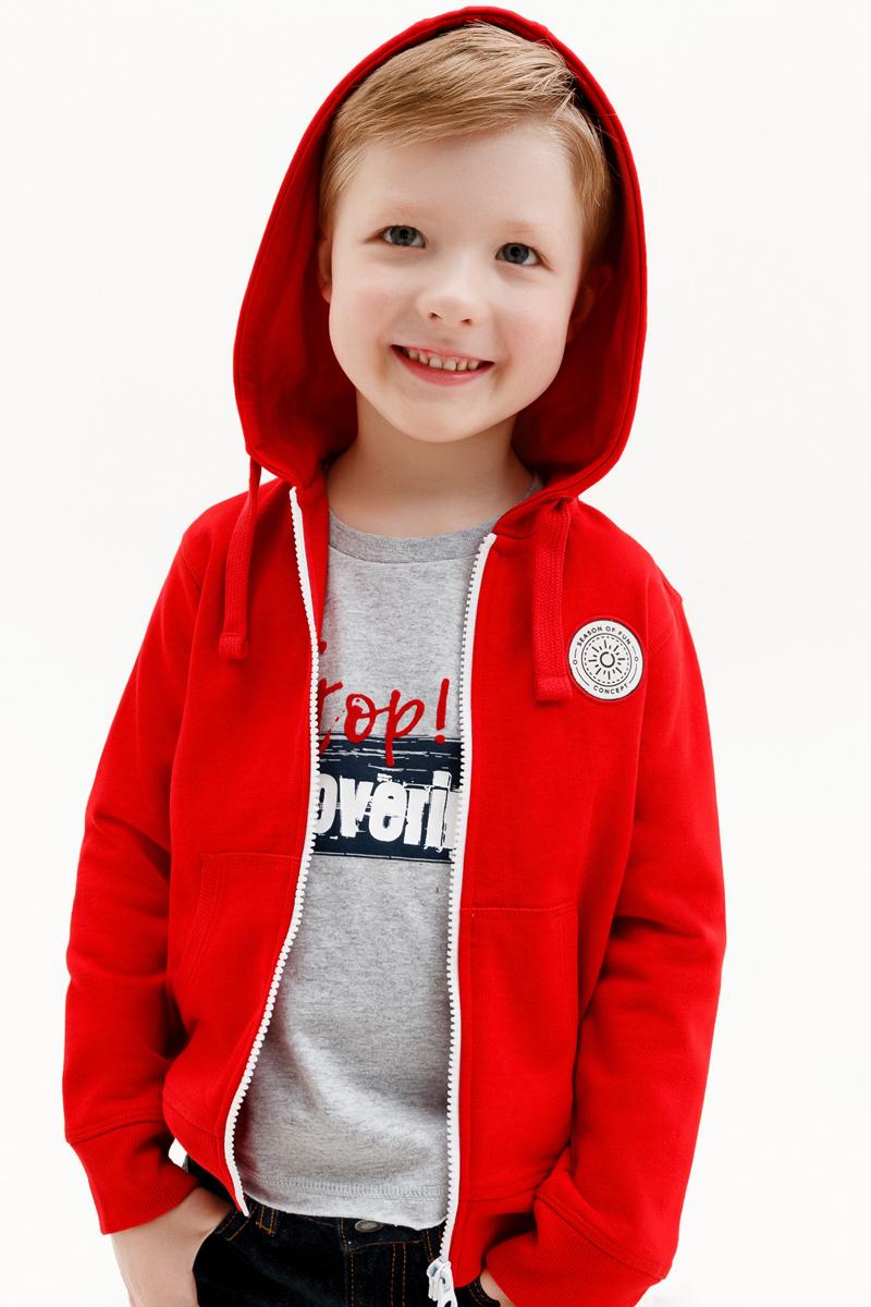 Толстовка для мальчика Concept Club Onion, цвет: красный. 10120130001_1500. Размер 128