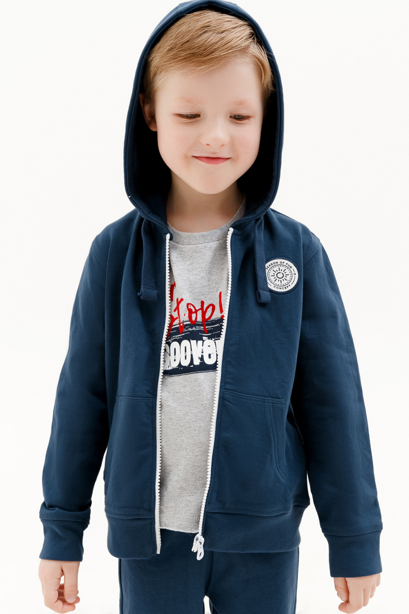 Толстовка для мальчика Concept Club Onion, цвет: синий. 10120130001_500. Размер 128