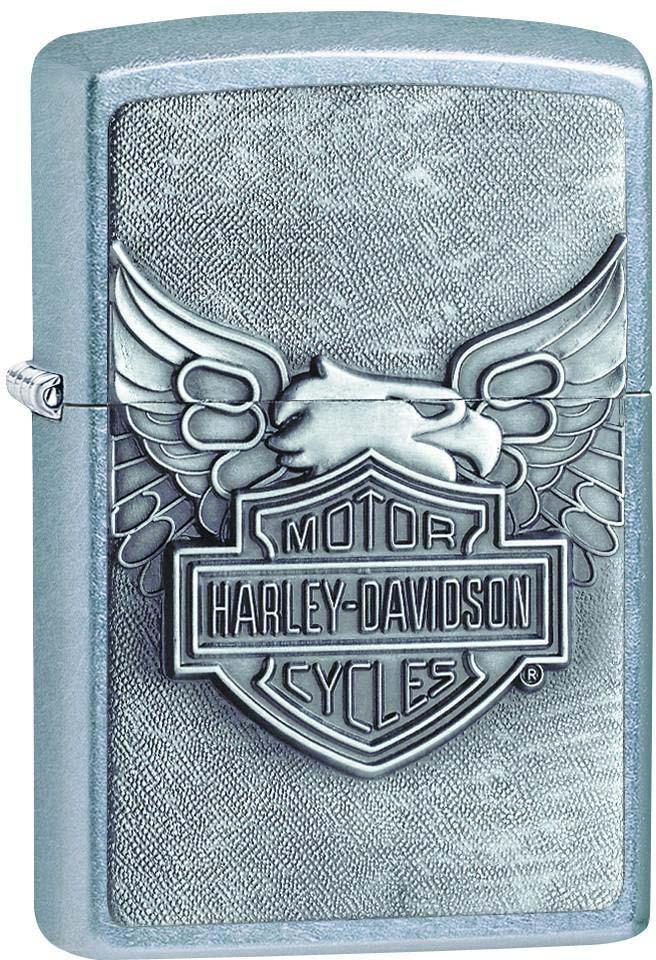 "Зажигалка Zippo ""Harley-Davidson"", цвет: серебристый, 3,6 х 1,2 х 5,6 см. 28323"