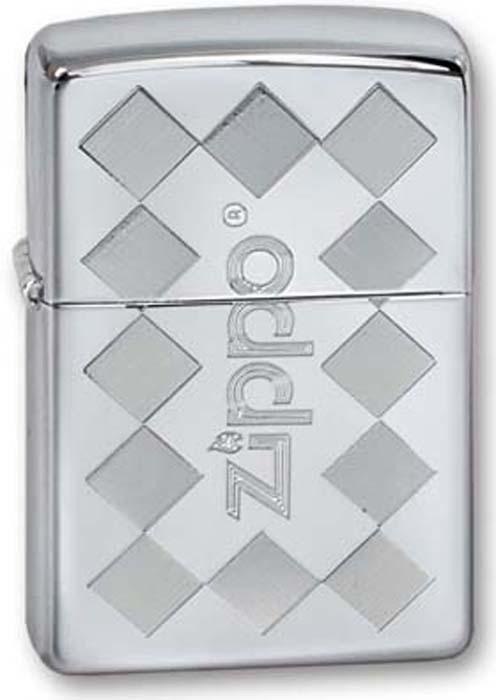 Зажигалка Zippo Classic, цвет: серебристый, 3,6 х 1,2 х 5,6 см. 250 ZIPPO FRAMED