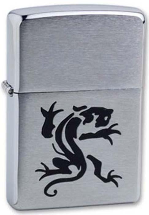 Зажигалка Zippo Panther, цвет: серебристый, 3,6 х 1,2 х 5,6 см. 35009