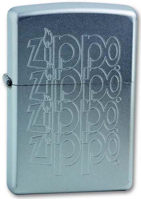 Зажигалка Zippo Zippo Logo, цвет: серебристый, 3,6 х 1,2 х 5,6 см. 205 ZIPPO LOGO VARIATION