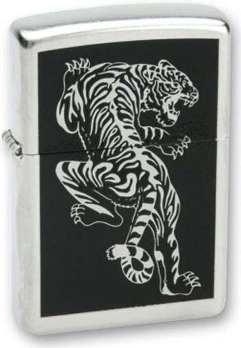 Зажигалка Zippo Tigre, цвет: серебристый, 3,6 х 1,2 х 5,6 см. 36053