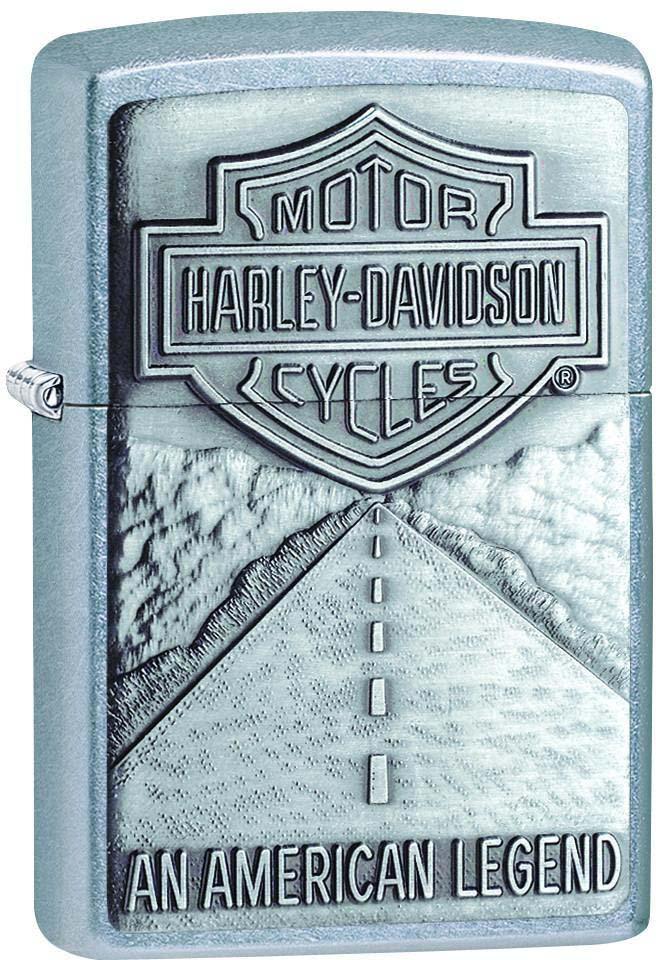 Зажигалка Zippo Harley-Davidson, цвет: серебристый, 3,6 х 1,2 х 5,6 см. 37962