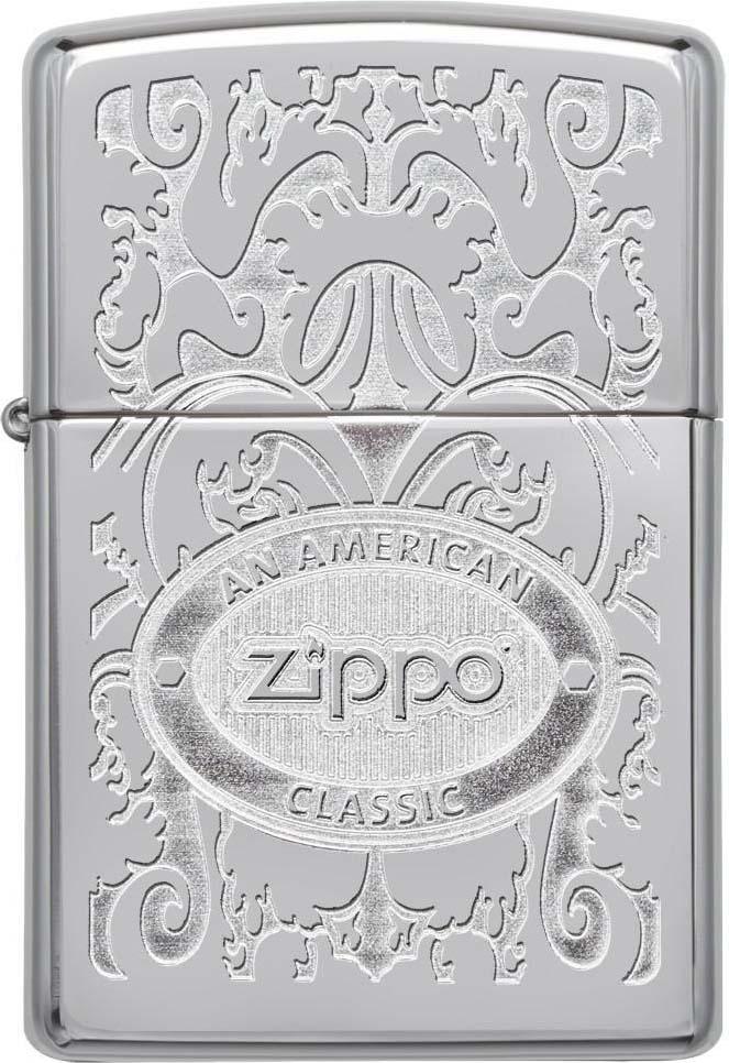 Зажигалка Zippo Crown Stamp, цвет: серебристый, 3,6 х 1,2 х 5,6 см. 38287