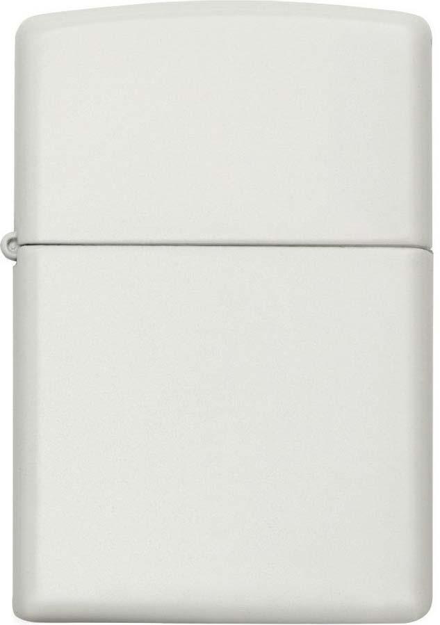 Зажигалка Zippo Classic, цвет: белый, 3,6 х 1,2 х 5,6 см. 214 REGULAR WHITE MATTE