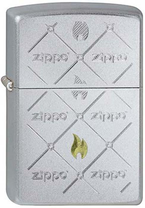 Зажигалка Zippo Zippos, цвет: серебристый, 3,6 х 1,2 х 5,6 см. 46351