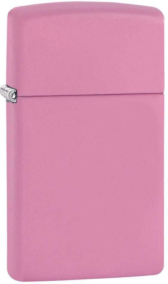 Зажигалка Zippo Slim, цвет: розовый, 3 х 1 х 5,5 см. 47057 zippo slim black