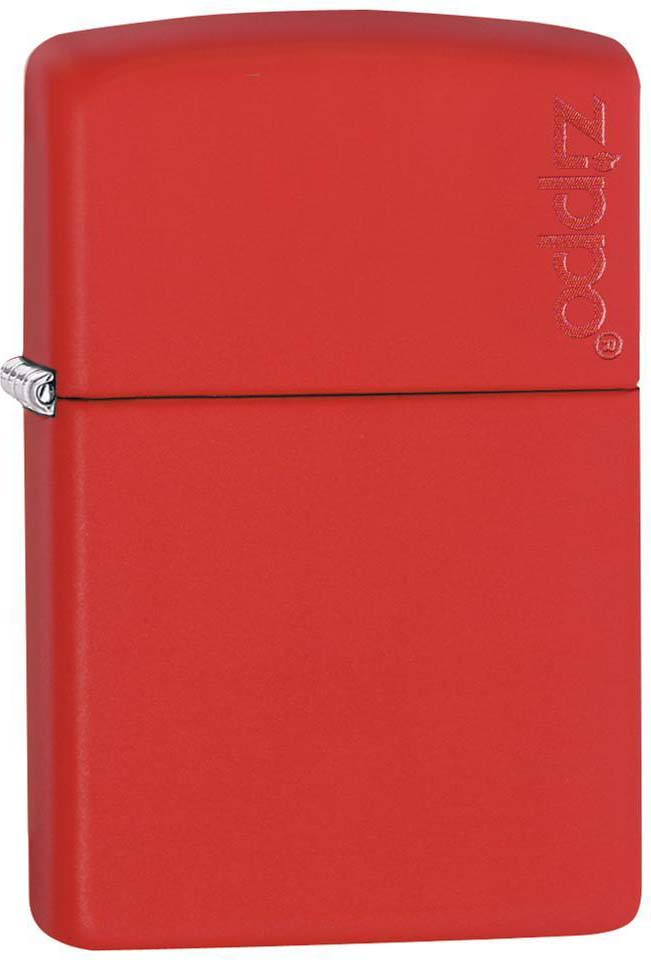 Зажигалка Zippo Classic, цвет: красный, 3,6 х 1,2 х 5,6 см. 47061
