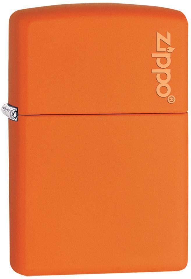 Зажигалка Zippo Classic, цвет: оранжевый, 3,6 х 1,2 х 5,6 см. 47062