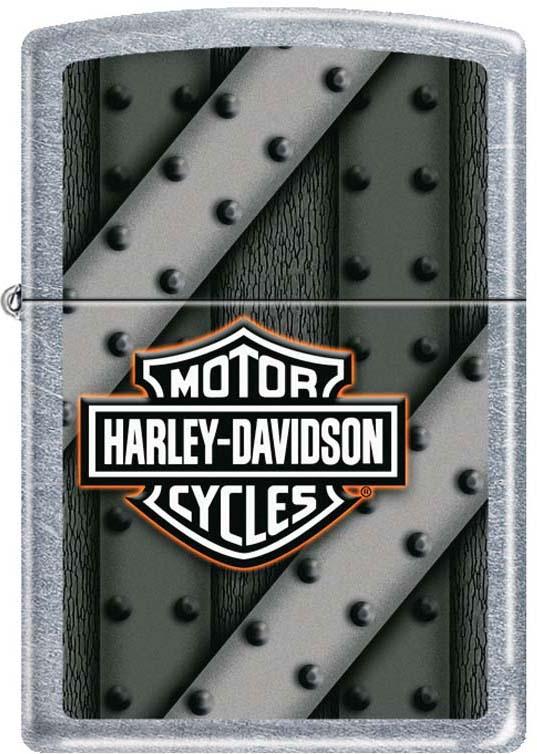Зажигалка Zippo Harley-Davidson, цвет: серебристый, 3,6 х 1,2 х 5,6 см. 48577