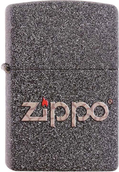 Зажигалка Zippo Classic, цвет: серый, 3,6 х 1,2 х 5,6 см. 211 SNAKESKIN ZIPPO LOGO