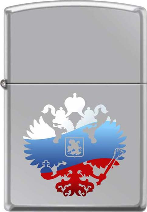 Зажигалка Zippo Двуглавый орел, 3,6 х 1,2 х 5,6 см. 260 RUSSIAN COAT OF ARMS