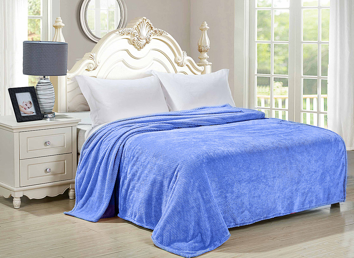 """Плед-покрывало Guten Morgen """"Деним"""", цвет: голубой, 150 х 200 см"""