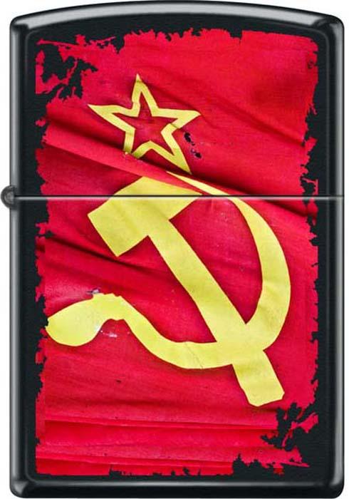 Зажигалка Zippo Серп и Молот, цвет: черный, 3,6 х 1,2 х 5,6 см. 48923