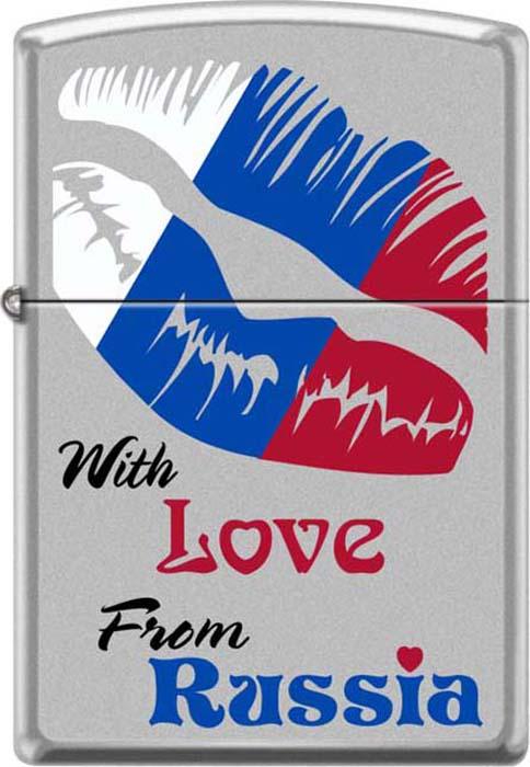 Зажигалка Zippo Из России с любовью, 3,6 х 1,2 х 5,6 см. 48930