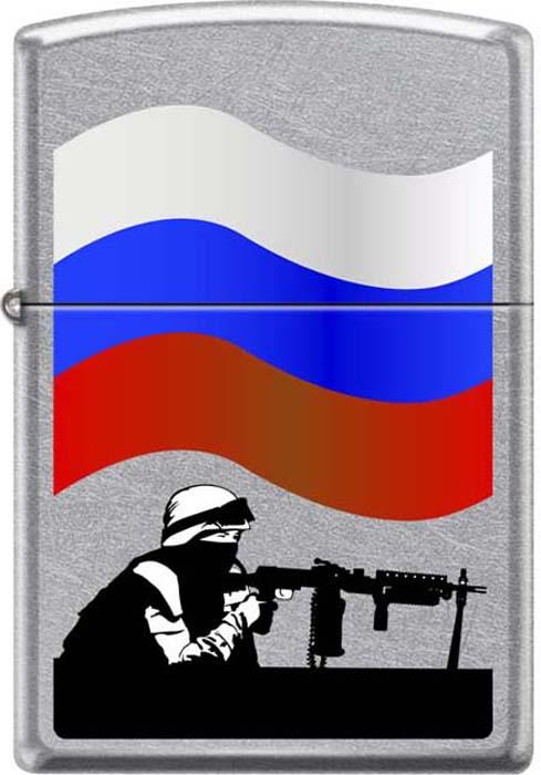 Зажигалка Zippo Защитник Отечества, 3,6 х 1,2 х 5,6 см. 48939
