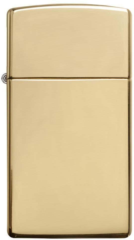 Зажигалка Zippo Slim, цвет: золотистый, 3 х 1 х 5,5 см. 49749