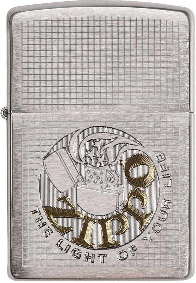 Зажигалка Zippo Classic, цвет: серебристый, 3,6 х 1,2 х 5,6 см. 51836